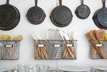 Kitchens / A few, unique organizing & decorating ideas for your kitchen.