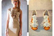 Outfit Estate Donna / Un outfit pensato e realizzato per una serata estiva dove le nostre ragazze si possano sentire comode e allo stesso tempo eleganti con capi di alta qualità ad un prezzo conveniente: #abito con colletto in perle beige #sandalo con fiore tacco basso bianco