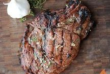 GRILLED STEAK + BEEF / We love a big, juicy rib-eye just as much as the guys