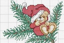 Christmas card embroidery