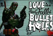 Deadpool & Harley Quinn / - http://www.facebook.com/MindSpaceApocalypse -  http://flip.it/bQnHw