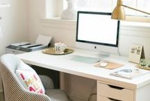 HOME | OFFICE INSPIRATION / Office decor | Office inspiration | Working from home | Blogging inspiration | Office ideas
