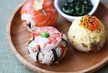 Sushi and japanese food