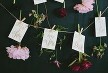 Creative Wedding Table Plans / DIY wedding table plans at their best.