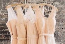 Bridesmaid Dresses / A collection of soft hued feminine bridesmaid dresses.