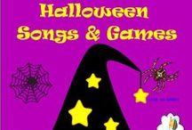 Halloween Songs & Halloween Games for Music Class / Fun Halloween Songs, Halloween Games, Halloween Music, Halloween works sheets, Music Class Halloween Ideas.