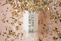 Metallic Weddings / Glitter and sparkle inspiration for a metallic themed wedding.