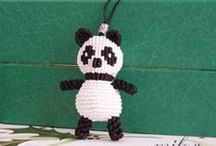 macrame animal / animals made macrame style