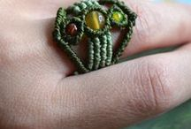 Macrame rings / Rings made with macramé