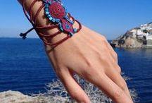 macrame bracelets / Bracelets with macramé