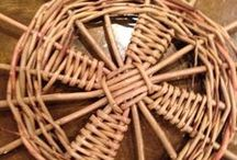 weaving with willow and bamboo / 3D weaving - useful and decorative objects woven with willow, paper, bamboo and other materials