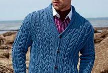Crochet- knitting men / Menswear made by knitting or crochet