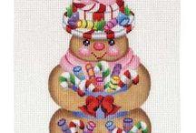 needlework christmas / Embroidery for Christmas season