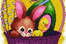needlework easter / Embroidery for Easter season