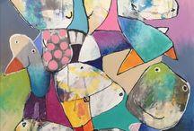 Art by Kirsten kruchow / Dette er mine malerier og tegninger.