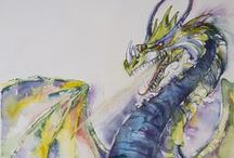 My Dragon Art / My watercolor dragon paintings have become some of my most popular works lately, and I've been having a lot of fun painting them!