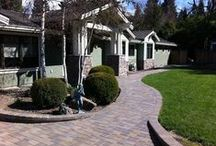 Walkways / Complete your driveway or patio with a matching paver walkway adding functionality and style to your property. Rich colors and multiple shapes and patterns complement any space and provide the versatility to create dynamic designs that are distinctly yours. The durability of our pavers makes them virtually maintenance free.
