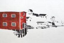 Peter Jackson : Artwork / Watercolours by Newfoundland artist, Peter Jackson