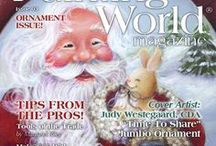 October 2016 Issue Painting World Magazine / The October Ornament issue! Painting World Magazine brings its readers the best painting and mixed media tutorials from some of the top artists worldwide in the decorative arts industry. We are focused on creating a community full of people who inspire each other and share great ideas! Our readers can learn about decorative painting, mixed media, craft projects, jewelry making and more!