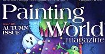 August 2017 Issue Painting World Magazine / This 96 page, full-color beautiful printed magazine has 10 how-to lessons from your favorite decorative artists including: Deb Antonick (cover), Theresa Prokop, Debbie Cole, Diane Trierweiler, Bobbie Takashima, Peggy Harris, Shara Reiner, Tracy Weinzapfel, Margaret Riley, Tami Carmody, Sherry C. Nelson, and Elaina Appleby!  www.paintingworldmag.com