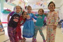 Pajama Day Celebration at First School, Palm Springs, CA / Pajama Day was organized at First School at its Palm Springs, CA location. Kids came up with beautiful pajamas; and they enjoyed a lot. It was a big hit among kids.