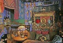 Oriental - Boho - Gipsy Interiors / Colourful interiors