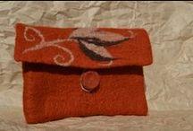 Filcowe torebki. Felted bags. / Torebki wykonane ręczną metodą filcowania.