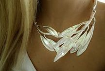 ANEMONE NATURALE / SILVER HANDMADE JEWELRY FROM FRESH NATURAL FLOWERS AND LEAVES