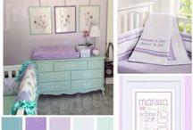 Purple Nursery / Purple nursery decor for your little girls