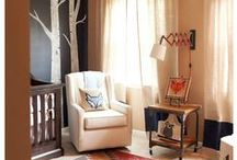 Woodland Nursery Theme / Little creatures in a woodland themed nursery; perfect for your little babe.