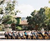Courtyard Ceremonies at Nicklaus Club - Monterey / One of two ceremony locations, the courtyard offers an intimate setting with multiple opportunities for seating layouts. With cobblestone, oak trees, archway, and working fountain the possibilities are numerous.