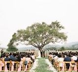 Event Lawn Ceremonies at Nicklaus - Club Monterey / Our secondary ceremony location. Flanked by two 100 year old oak trees overlooking the golf course, silhouetted by the the Santa Lucia mountains.