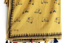 KHADI stoles & dupatta / These are hand block printed dupattas and stoles in natural dyes with beautiful prints on them By chhapa