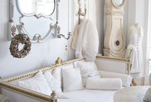 French Boudoir / Master bedroom- grey and white