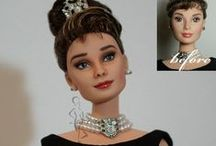Audrey Hepburn OOAK dolls and repaints / Wonderfull OOAK dolls, Barbies and repaints of the beloved actress Audrey Hepburn. I wish I could have all of them!
