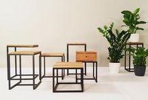 BOIS ET FER / Muebles de madera y hierro a medida.