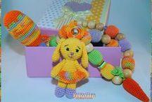 Вязаные слингобусы, погремушки и развивающие игрушки. / Изделия, помогающие мамам в развитии их малышей и малышек!