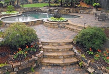 Pool Landscaping and Decking / A bunch of pictures of beautiful swimming pool landscaping and decking, from the luxurious to the simple/economical. / by Pool Pricer