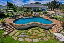 Semi Inground Pools / Pictures of cool semi inground pools, many of which can serve as inspiration for landscaping and general design ideas. / by Pool Pricer