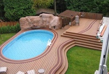 Above Ground Pool Decks / An above ground pool with a deck offers a lot of the appeal of an inground pool without a lot of the hassle. Here are some pictures showing some awesome pool deck ideas.