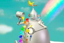My Robots illustration / It is the 3D robot illustration that illustrator Toshinori Mori draws.
