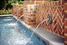 Water Features / Waterfalls, scuppers, fountains, and other water features for pools.