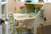 Desks....worktables...bookcases