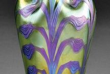 LOETZ recommened for production / These are some of the great examples I found on Loetz, Tiffany, and same contemporary glass.  I posted with comments (CAPITOL LETTERS) on FORM, STYLE, COLOR, PATTERNS, CONTRASTS.  Tell me what you think would be appropriate for your arts.