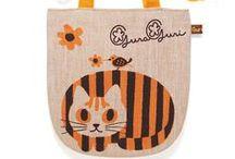 My Handmade Totebag / The cat illustrations illustrator Toshinori Mori drew the tote bag that you screen print.