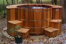 Hot Tub and Spa Designs / Who wouldn't love to have their own backyard spa? To help spark ideas, here are some of the best hot tub/spa designs around. / by Pool Pricer