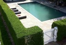 Pool Privacy Ideas / Ideas for adding privacy to a swimming pool area.