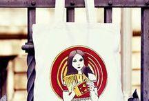 Prezenty z autorskimi ilustracjami ;) / Kubeczki, notesy oraz torby na zakupy
