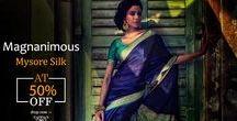 Mysore Silk Sarees / Don't let these get away! Mysore Silk Sarees at 50% OFF!