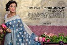 Pochampally Cotton Sarees